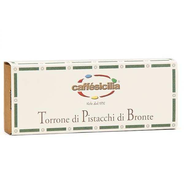 Caffe Sicilia Nougat italien aux pistaches de Bronte (55%) - Boîte 200g