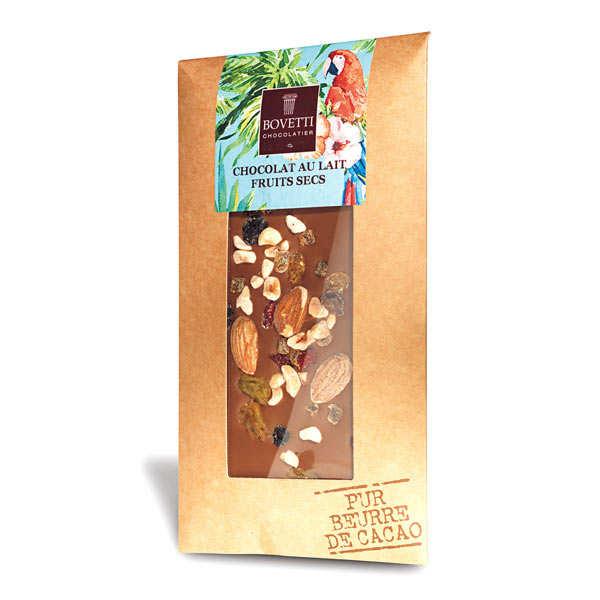 Bovetti chocolats Tablette chocolat au lait fruits secs - Tablette 100g
