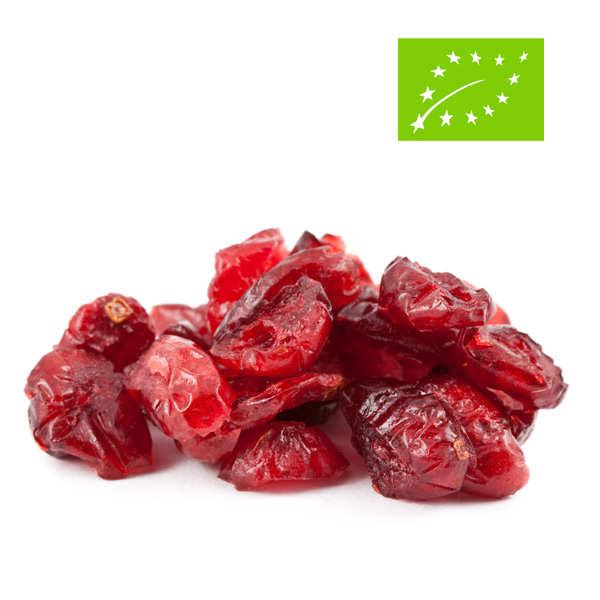 Jus Bio & Cie Baies de cranberry / canneberge séchées et sucrées bio - Sachet 500g
