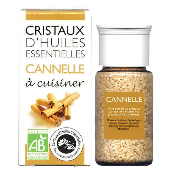 Aromandise Cannelle - Cristaux d'huiles essentielles à cuisiner - Bio - Flacon 10g