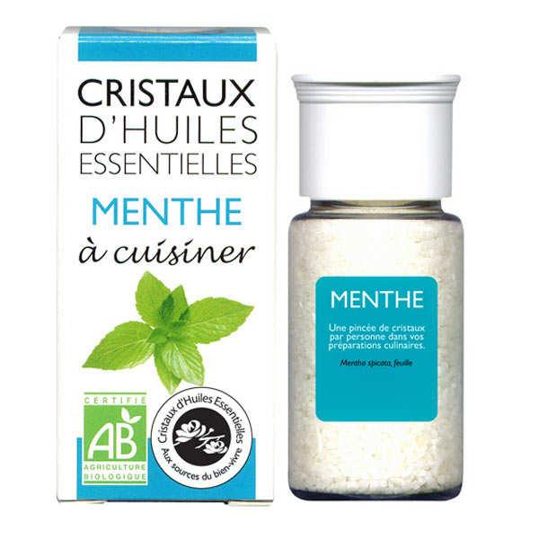 Aromandise Menthe - Cristaux d'huiles essentielles à cuisiner - Bio - Flacon 10g