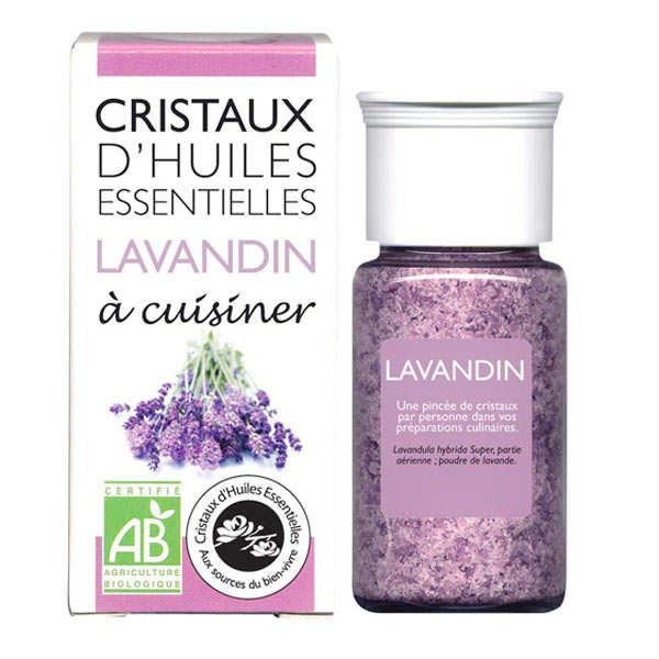 Aromandise Lavandin - Cristaux d'huiles essentielles à cuisiner - Bio - Flacon 10g