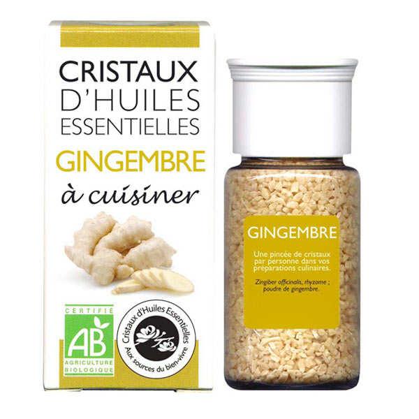 Aromandise Gingembre - Cristaux d'huiles essentielles à cuisiner - Bio - Flacon 10g