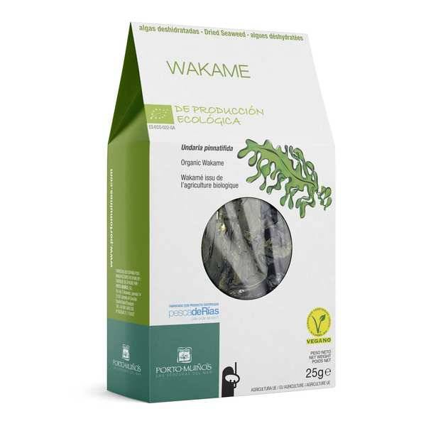 Porto Muinos Wakamé - Algues déshydratées bio - 3 sachets de 25g