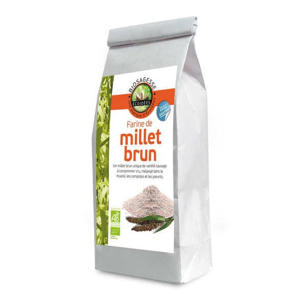 Biosagesse Farine de millet brun bio - Sachet 500g