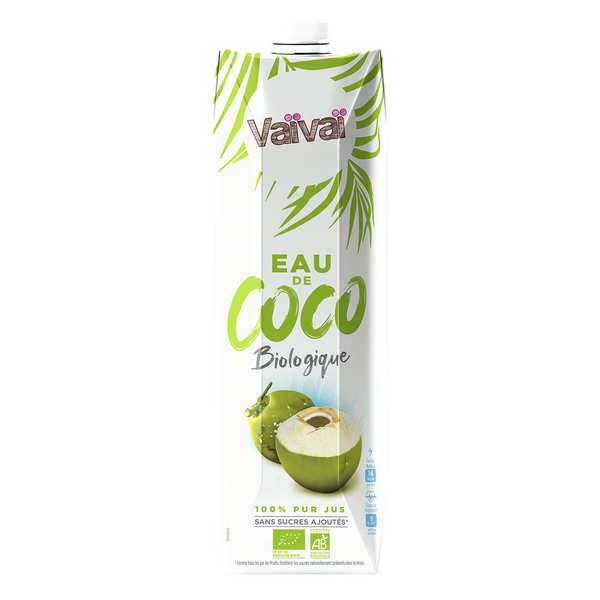 VaiVai Vaïvaï – L'eau de coco bio 100% naturelle - 1 litre - Bouteille 1 litre
