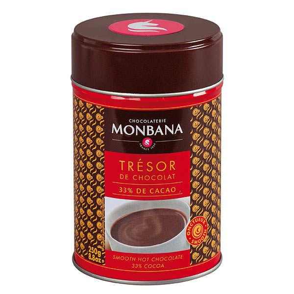 Monbana Chocolatier Chocolat en poudre onctueux Trésor de Chocolat - Boîte250g