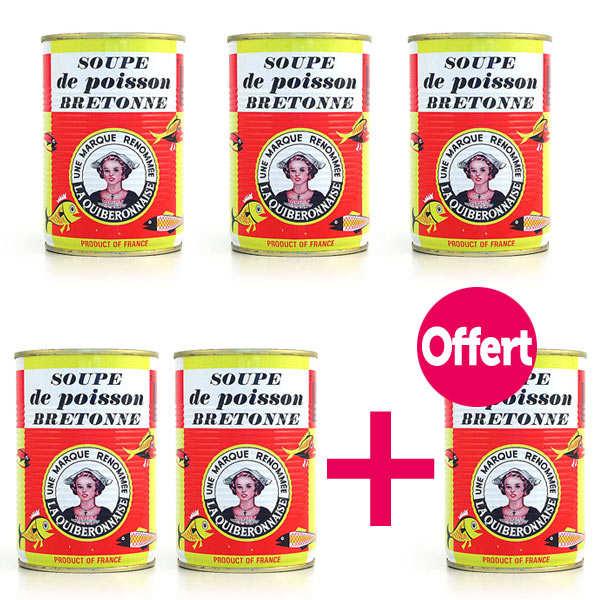 La quiberonnaise Soupe de poissons artisanale bretonne 5+1 offerte - Lot 5 boites de 410 g + 1 offerte