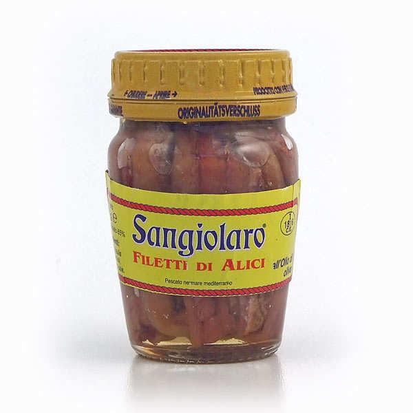 Sangiolaro Filets d'anchois à l'huile d'olive - Lot de 3 bocaux 80g