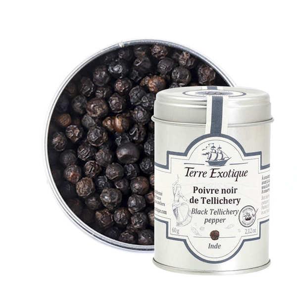 Terre Exotique Poivre noir de Tellicherry - Pot 60g
