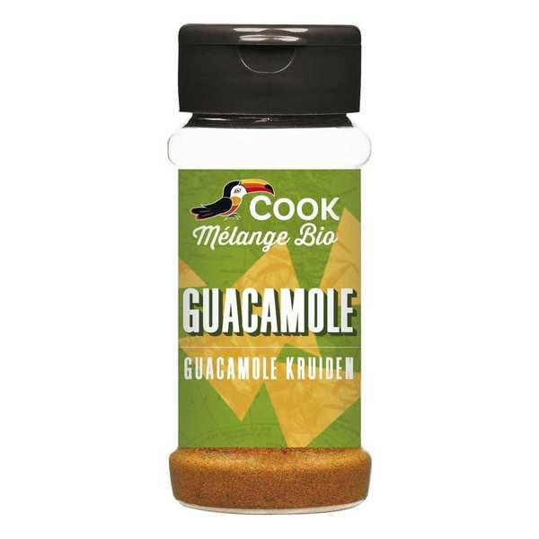Cook - Herbier de France Mélange d'épices pour guacamole bio - 3 flacons de 45g
