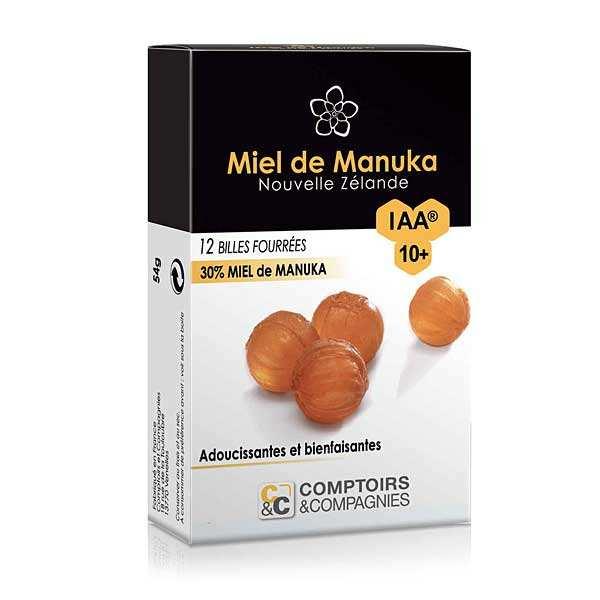 Comptoirs et Compagnies Billes fourrées 30% miel de manuka IAA 10+ - Boîte 54g