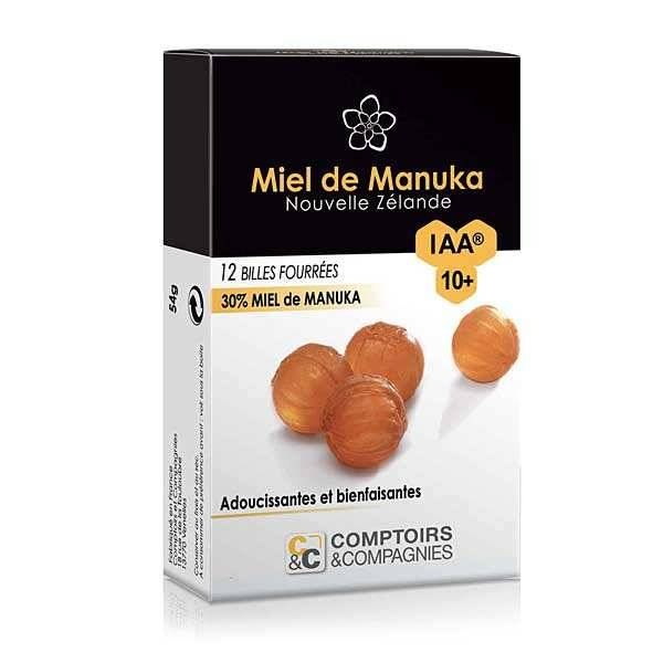 Comptoirs et Compagnies Billes fourrées 30% miel de manuka IAA 10+ - 3 boites de 54g
