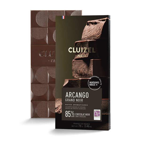 Michel Cluizel Tablette de chocolat noir - Grand noir 85% - 10 tablettes de 70g