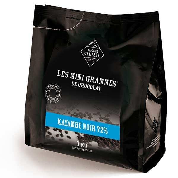 Michel Cluizel Minigrammes Kayambé noir 72% - chocolat de couverture M.Cluizel - Sachet 1 kg