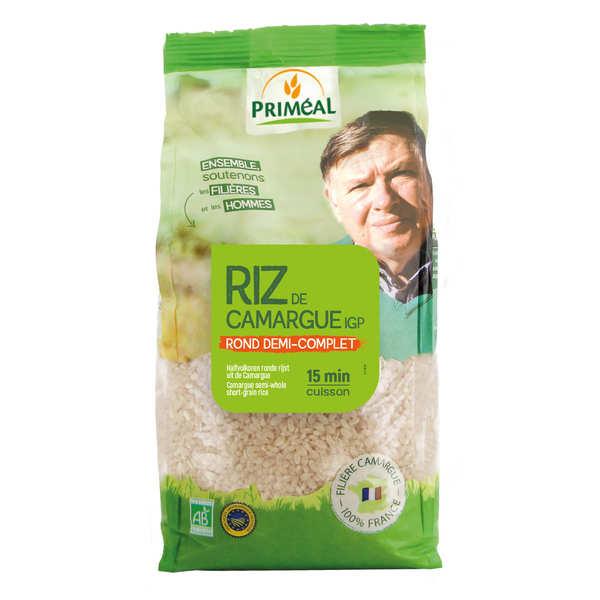 Priméal Riz rond demi complet de Camargue Bio - Sachet 1 kg