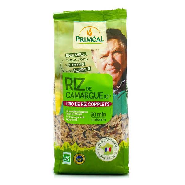 Priméal Trio de riz longs complets de Camargue bio - 3 sachets de 500g