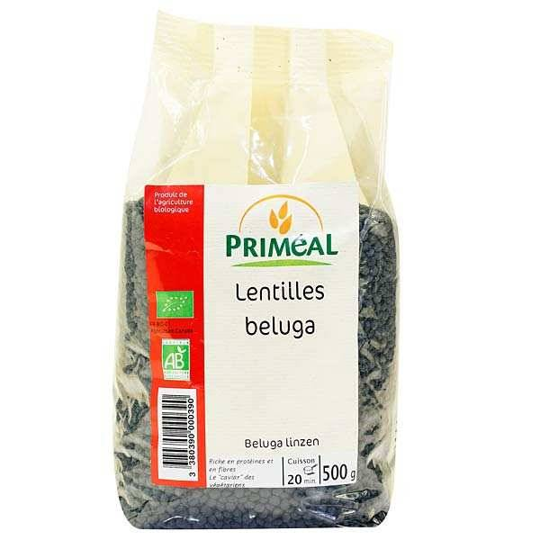 Priméal Lentilles Beluga Bio - 3 sachets de 500g