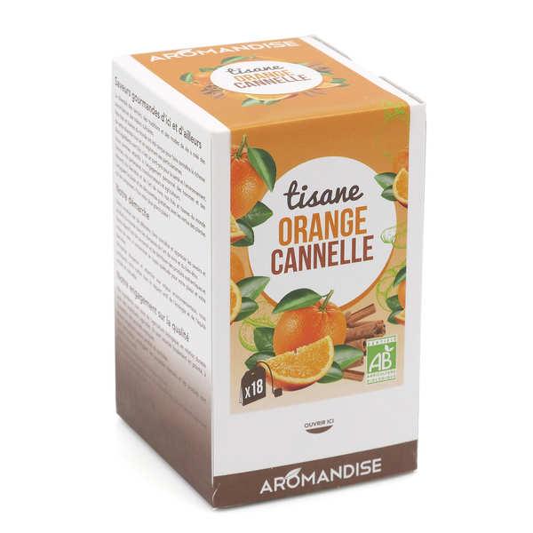Aromandise Tisane bio Orange Cannelle en infusettes - Boîte20 sachets
