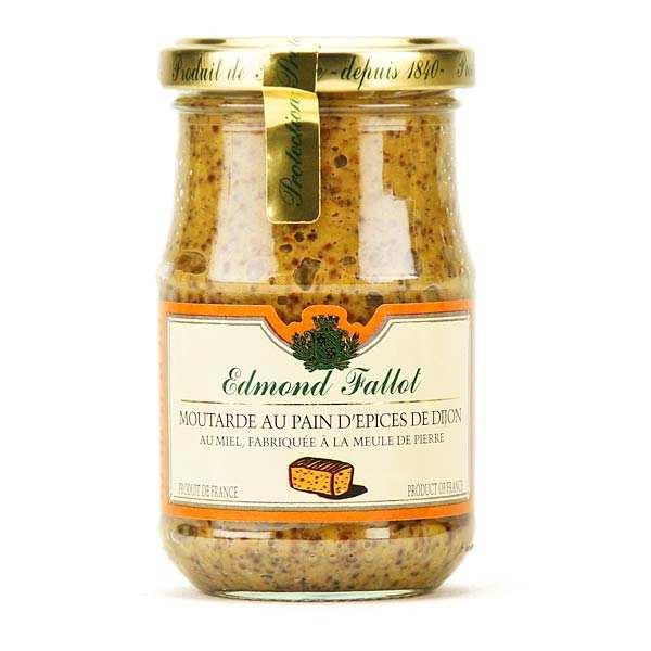 Fallot Moutarde au pain d'épices de Dijon au miel - Bocal 210g