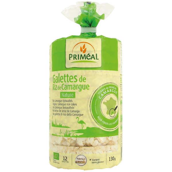 Priméal Galettes de riz de Camargue nature Bio sans gluten - Sachet 130g