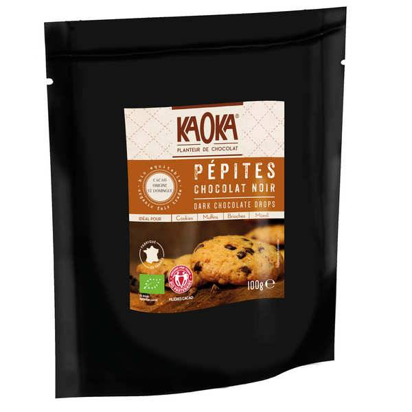 Kaoka Pépites de chocolat noir bio - 3 sachets de 100g