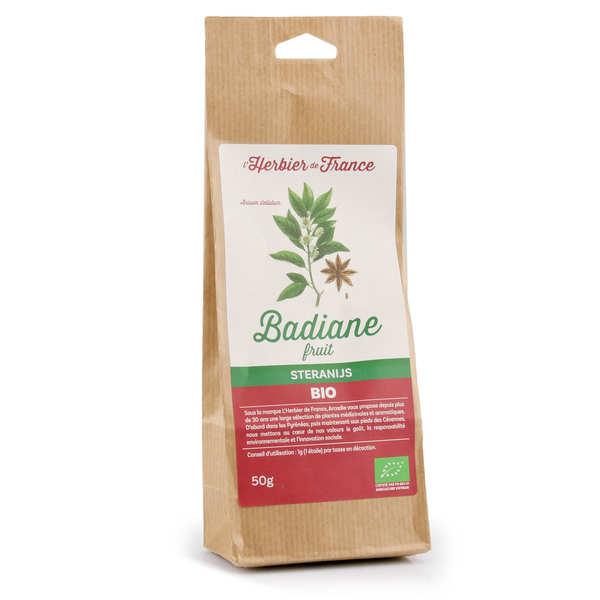 Cook - Herbier de France Badiane bio (anis étoilée entière) - Sachet 50g