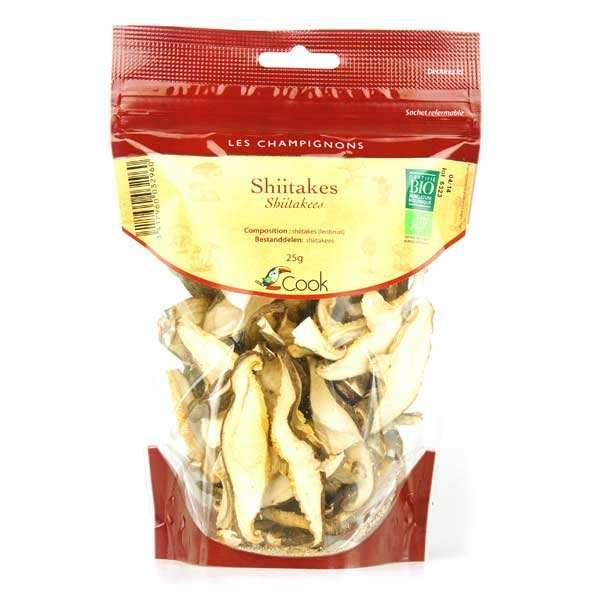 Cook - Herbier de France Shiitakes déshydratés bio - Lot de 3 sachets de 25g