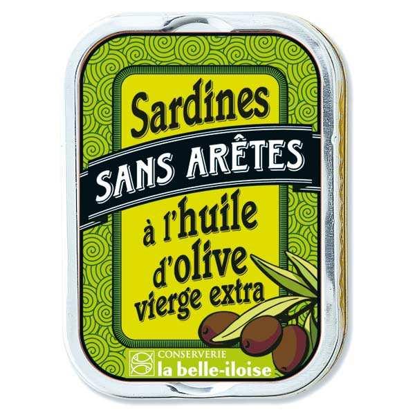 Conserverie La Belle Iloise Sardines sans arêtes à l'huile d'olive vierge extra - Boîte115g