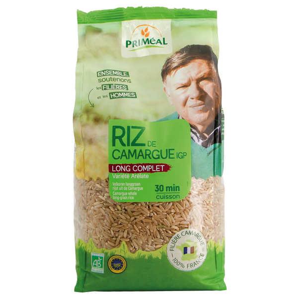 Priméal Riz long complet de Camargue bio - 3 sachets de 1kg