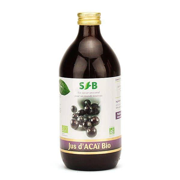 Laboratoire SFB Pur jus d'açaï bio en bouteille - 3 bouteilles de 50cl