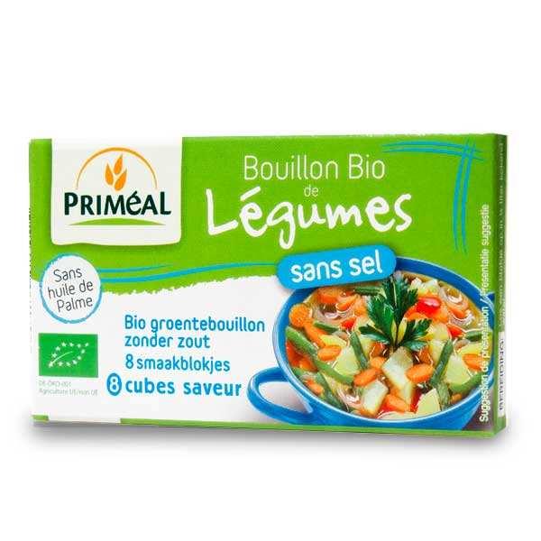 Priméal Bouillon de légumes sans sel bio - Boite 72g - 8 bouillons