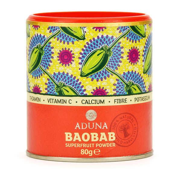 Aduna Poudre de baobab bio - superfruit - Lot 3 boites de 80g