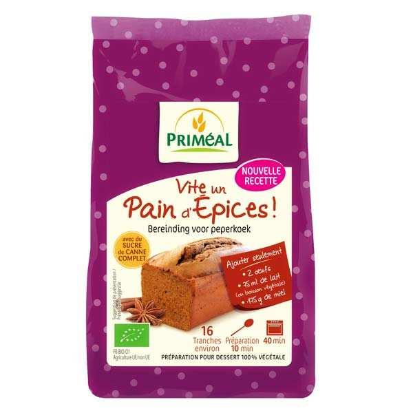 Priméal Préparation bio pour pain d'épices - Vite un pain d' épices - Sachet 325g
