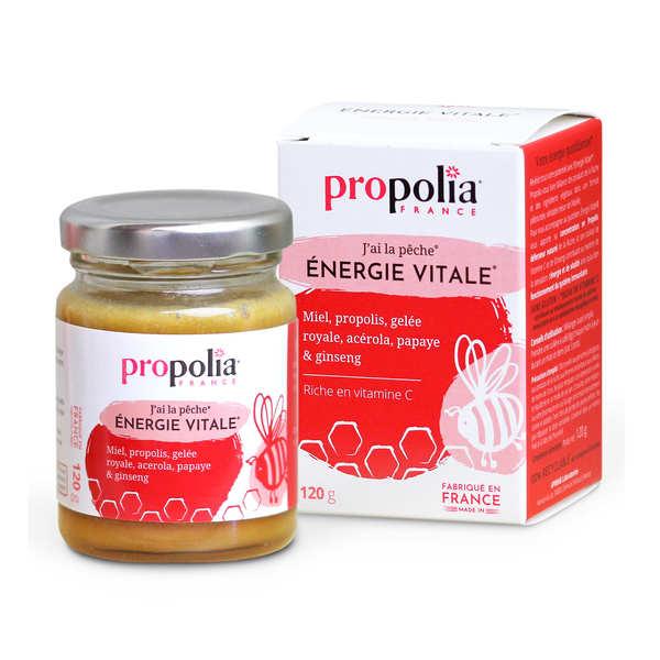 Propolia Energie Vitale - Miel, propolis et gelée royale - Pot 120g