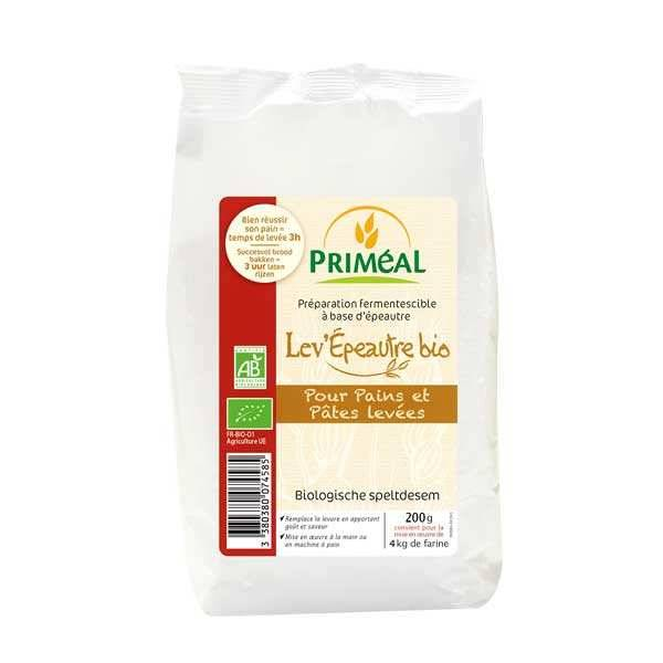 Priméal Levain d'épeautre fermentescible bio - les 6 sachets de 200 g