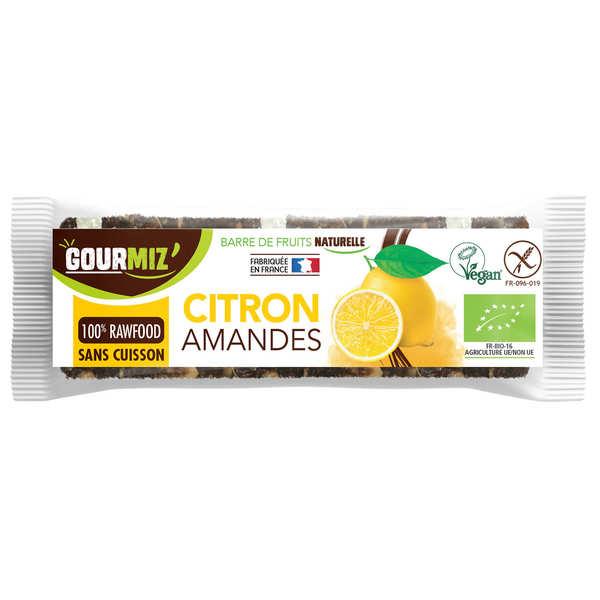 Gourmiz Barre crue et bio Citron - Amandes - 3 barres de 35g
