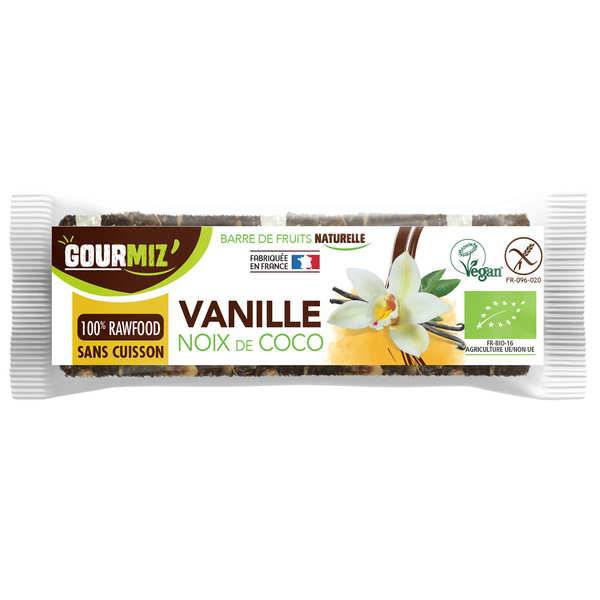 Gourmiz Barre crue et bio Vanille - Noix de coco - Barre 35g