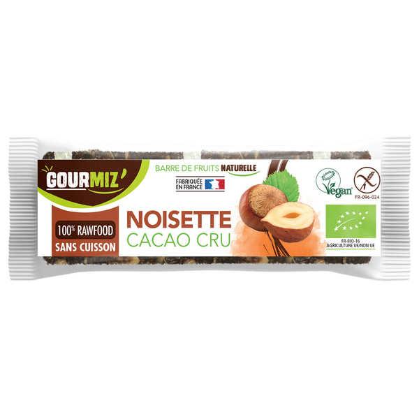 Gourmiz Barre crue et bio Noisettes - Cacao cru - Barre 35g