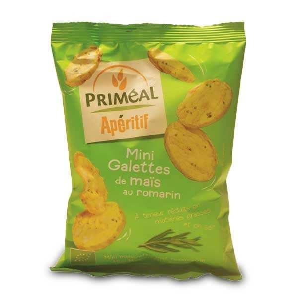 Priméal Mini galettes de maïs au romarin Bio - Paquet 50g