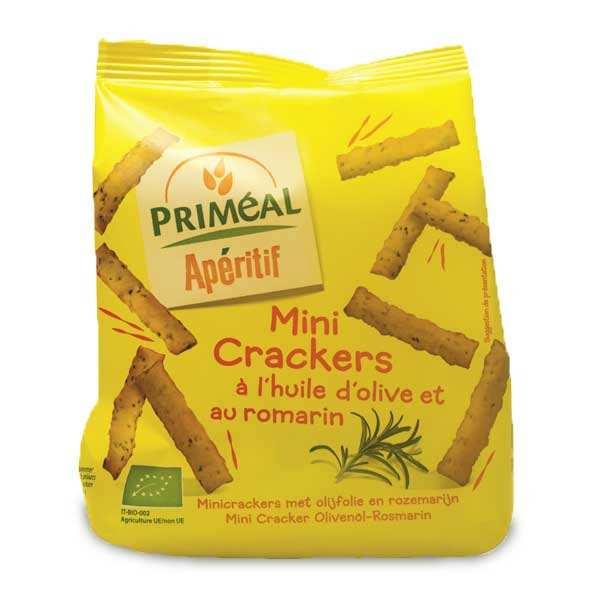 Priméal Mini crackers bio à l'huile d'olive et au romarin - Paquet 100g