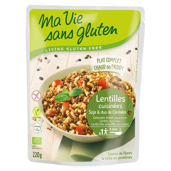 Ma vie sans gluten Céréales cuisinées lentilles, soja, duo riz sarrasin bio et sans gluten - Lot de 6 paquets