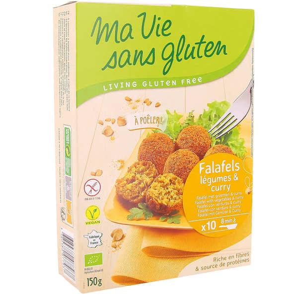 Ma vie sans gluten Falafels aux légumes et curry bio sans gluten - Paquet de 150g