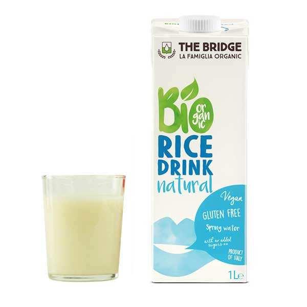 The Bridge Bio Boisson au riz bio et sans gluten - Lot de 12 briques 1L