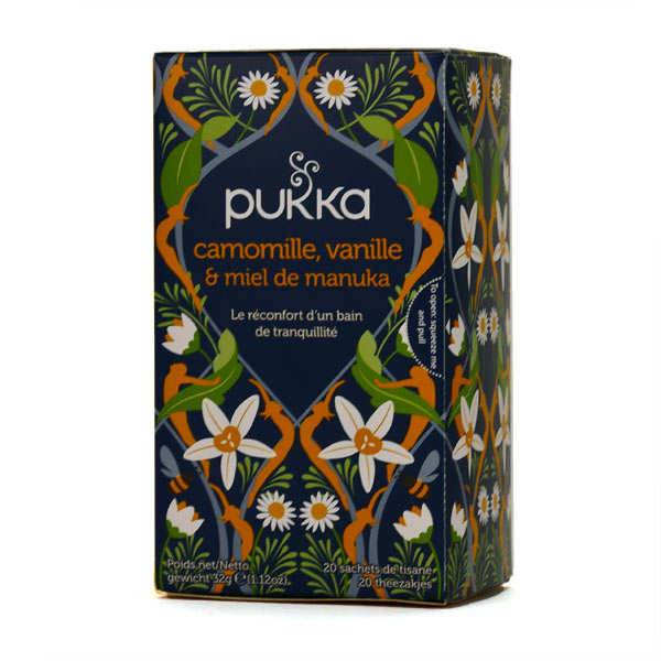 Pukka herbs Infusion bio camomille, vanille et miel de manuka - Pukka - Boite 20 sachets