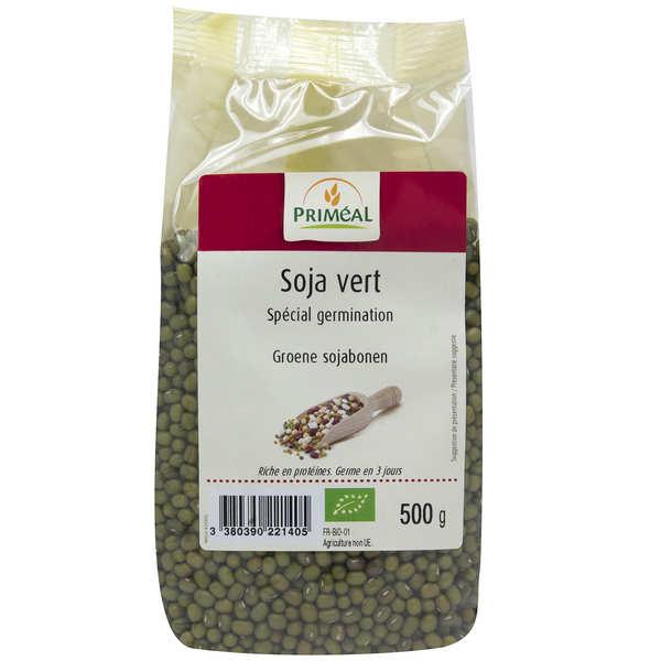 Priméal Soja vert à germer bio - 3 sachets de 500g