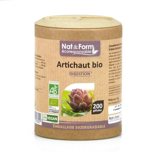 Nat&Form Artichaut bio - 200 gélules de 275mg - Boîte carton recyclé 200 gélules