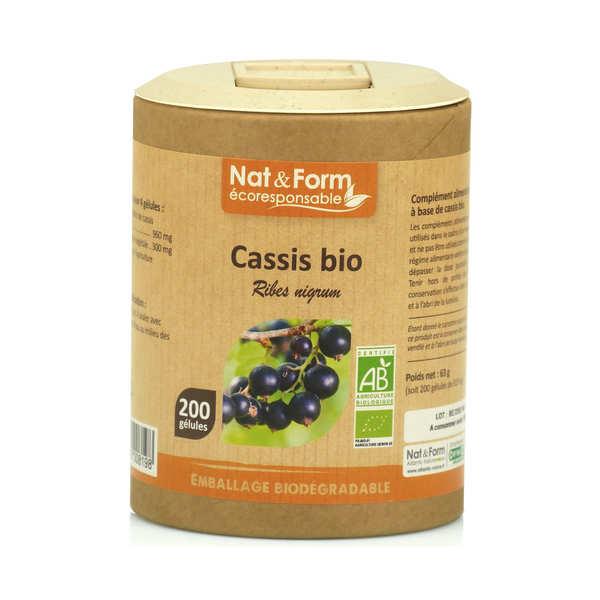 Nat&Form Cassis bio - 200 gélules de 315mg - Boîte carton recyclé 200 gélules