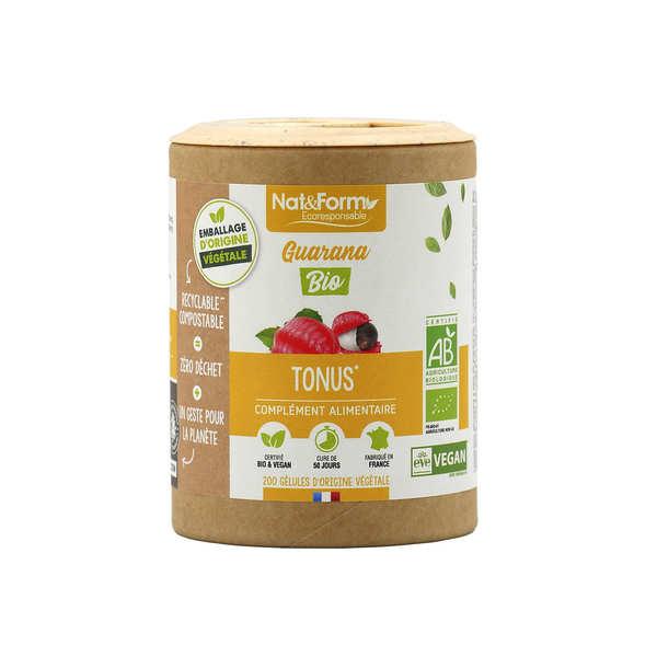 Nat&Form Guarana bio - 200 gélules de 350mg - Boîte carton recyclé 200 gélules