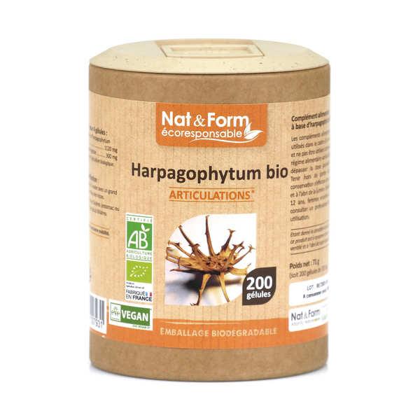Nat&Form Harpagophytum bio - 200 gélules de 355mg - Boîte carton recyclé 200 gélules